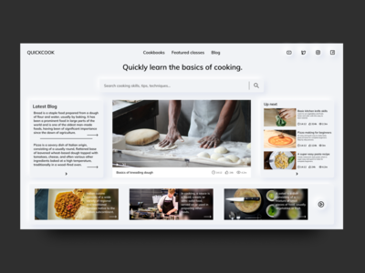 Learn Cooking Online - Landing Page