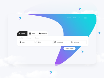 Flight Booking typography rent a car flight search product design landing page ui design website minimal ux design web ui flight booking app flight booking