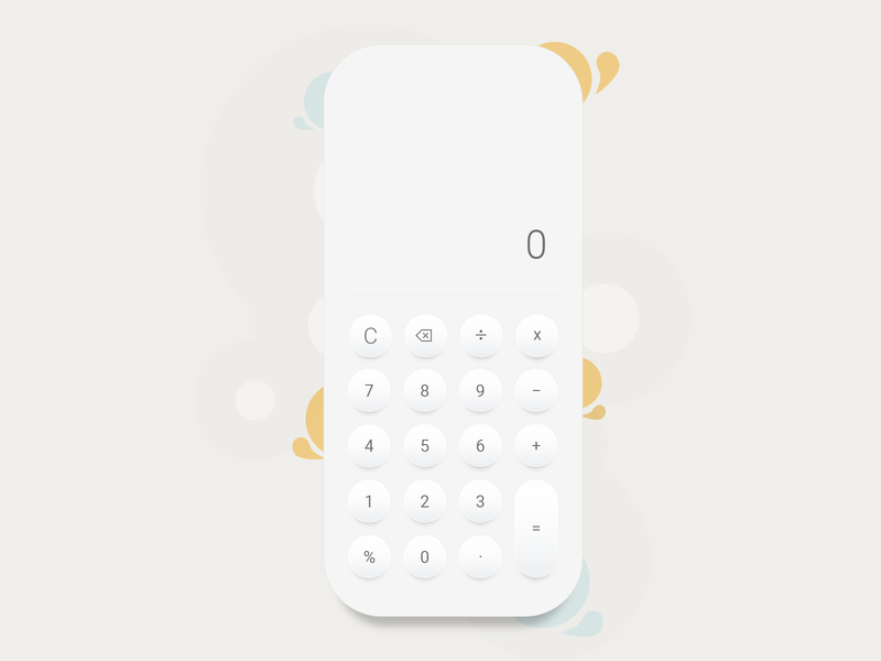 Calculator - Mobile App mathematics math calculator design calculator app calculator mobile app mobile ui mobile app design app minimal ux design ui design ui