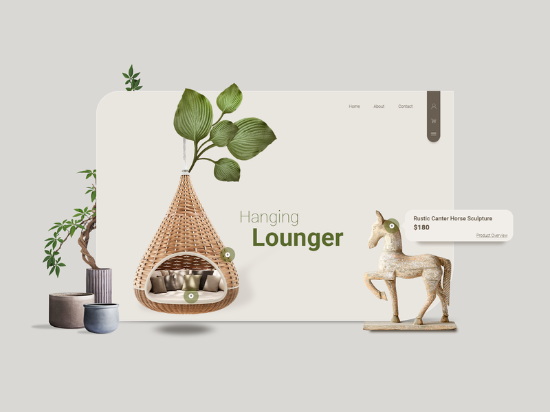 Ecommerce decoration webdesign typography home website minimal ux design ui design ui ecommerce
