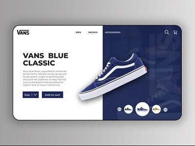 Vans landing page uxdesign ui  ux ui design uiux website design type minimal website design web design web typography ux ui
