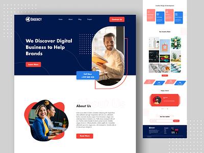 Agency Landing page website design website design minimal web design uxdesign ux ui  ux ui design ui