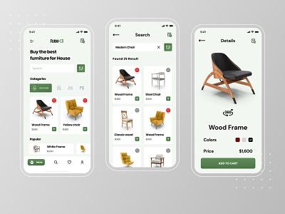 Furni-Co || E-commerce app UI ios app ios app design uxui uidesign ecommerce application app ux ui  ux ui application design application ui furniture app furniture store app design uxdesign ui design