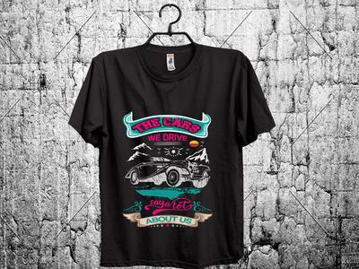 car t shirt design.