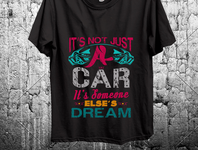 car t shirt design
