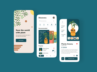 Mobile Plant Shop mobile design android apps mobile ui fresh business ecommerce business ecommerce app ecommerce design clean ui clean mobile minimal shopping bag shopping app shopping shopify shopping cart ecommerce shop plant ecommerce