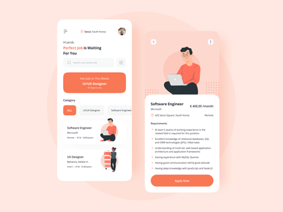 Job Finder mobile apps mobile ui uidesign ux uiux mobile app mobile device mobile design ui work jobfinder job application job listing jobsearch jobseeker job board jobsite finder jobs job
