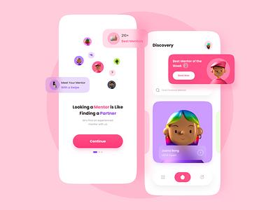 Mentor App mentoring apps ux design uiuxdesign ui design app design apps design finder mentorfinder mentor mobile apps mobiledesign design uidesign mobile app clean uiux mobile ui mobile ui
