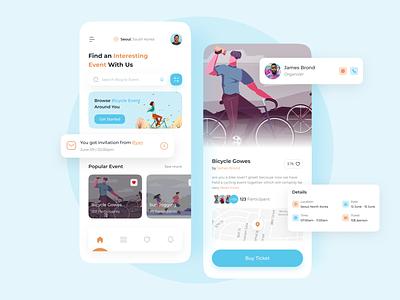 Event App🤩 designui designer communityapps community apps community graphic design birthday mobile apps clean design uidesign uiux ui design mobile design app design apps event app event