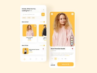 Clothes App Design clean design ecommerce design ecommerce app sell shopping add to cart cart shopify ecommerce clohtes selling clothes app uix design uiux ui design application design app design mobile mobile ui mobile app mobile design