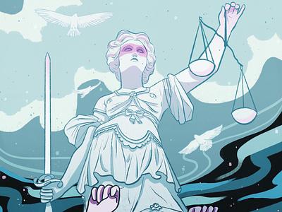 No justice, no peace blacklivesmatter justice illustration