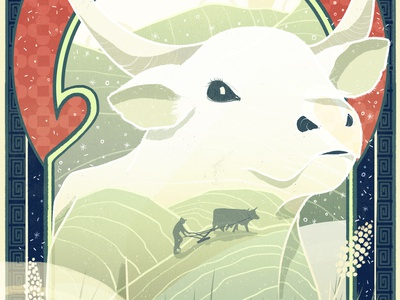 Year of the Ox lunarnewyear cny illustration