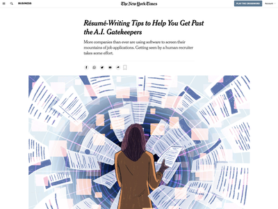 Getting Your Resume Past AI Gatekeepers nyt new york times business illustration editorial illustration illustration