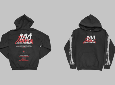 100 thieves hoodie concept. promotional image branding logo art apparel merch design artwork commission