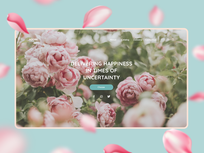 ADORE Flower delivery website website branding minimal web ux ui