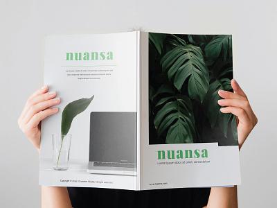 Nuansa Creative Brochure creative promotion branding corporate flyer minimalist modern clean corporate business brochure
