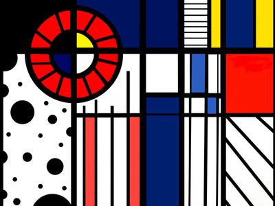 """Inspired Mondrian"" ❤️"