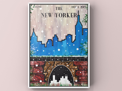 """""""The New Yorker."""" 🏙 impressionist contemporary abstract design line shapes pattern watercolor painting digital vector illustrator illustration the new yorker cover magazine the new yorker cover the new yorker"""