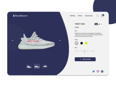 Product Page for a Fashion Store