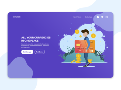 Landing Page For a an E-Wallet - DailyUI 003