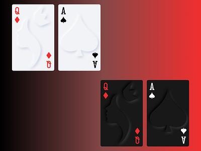 Soft UI/Skeuomorphic Playing Cards soft ui skeumorphic card game cards playing cards ux ui interface design daily ui concept dark mode light mode