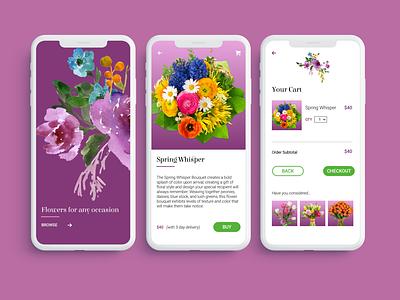 E-commerce Flower Shop flower shop flowers ecommerce design ux ui interface design daily ui concept