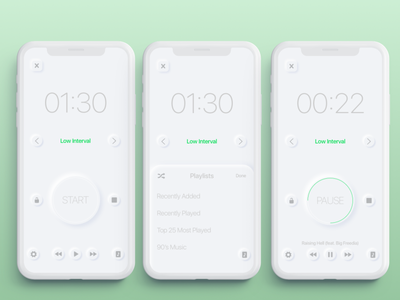 Interval Timer concept daily ui soft ui timer app timer app ux ui design interface