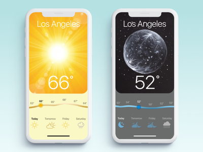 Weather App interface dark mode weather app app ux ui design daily ui concept