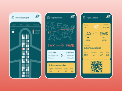 Travel App airlines airline plane travel app travel app ux ui interface design daily ui concept boarding pass
