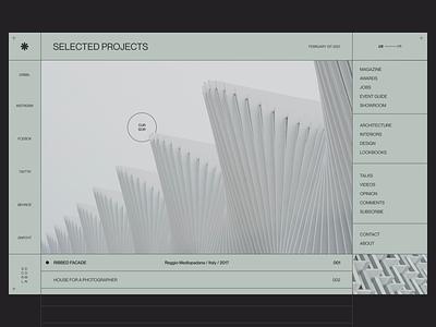 FORM Architects Exploration | Rebound. uxui uxdesign redesign classy art desktop design modern website site webpage photography web design typography font ux concept architecture ui clean