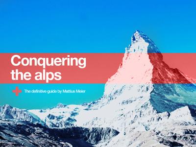 Conquering alps2