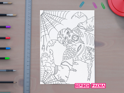 Zombie Coloring Book coloring page coloring book illustrator illustration adult coloring book zombie coloring book