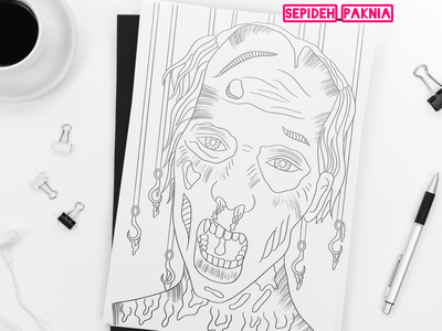 Zombie Coloring Book coloring book for kids illustrator illustration zombie coloring book coloring page coloring book adult coloring book