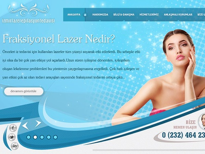 İzmir Lazer Epilasyon Tedavisi web design psd template freelance portfolio psdizayn