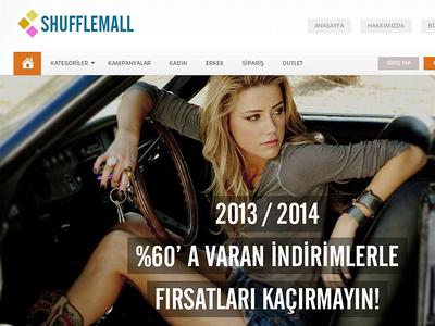 Shuffle Mall Moda Sitesi Web Arayüz Tasarımı