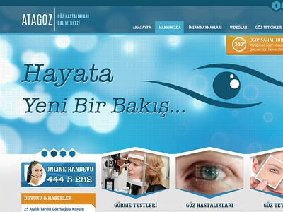 Atagöz - Göz Hastalıkları Dal Merkezi health template hospital template doctors interface design