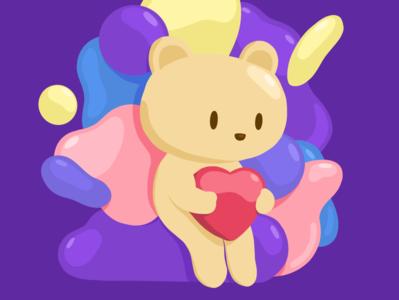 Bear holding a heart