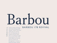Barbou Typeface Revival