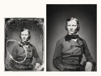 Restoring an old portrait