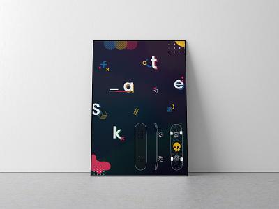 Skateboarding poster illustration poster vectorart digitalart adobeillustrator