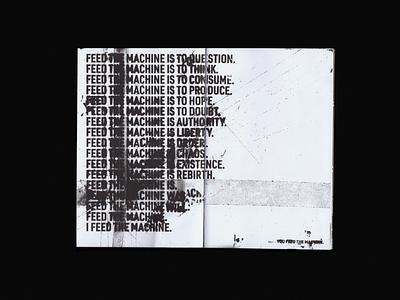 Visions #000 - Spread graphic typedesign magazine ad magazine grunge typography type spread editorial