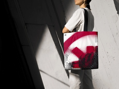 Feed the Machine Tote Bag tote bag identity brand graphic design logo branding design