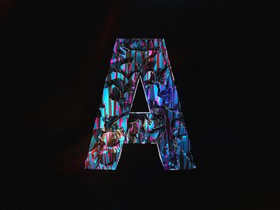 A render octane 3d cinema 4d graphic design typography design