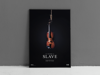 12 Years a Slave typogaphy film festival artdirection poster art 12 years a slave poster photography djcad university design
