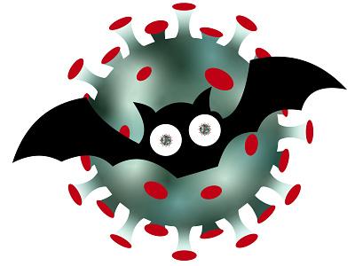 B & C covid 19 covid halloween design halloween flyer halloween party horror art horror halloween virus corona bat 2020 design covid19 covid-19 corona virus coronavirus illustration illustrator