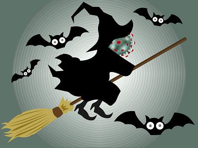 Coroween! party halloween design sweep horror corona covid 19 covid bat 2020 halloween flyer halloween party halloween design covid-19 covid19 coronavirus corona virus illustration illustrator