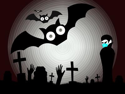 Happy Coroween!! horror mask covid 19 death bash halloween bash halloween design halloween flyer halloween party halloween design covid corona covid-19 covid19 corona virus coronavirus 2020 illustration illustrator