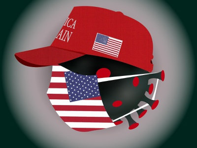 MAGA! hat democrat covid-19 biden cap mask america usa presidential election vote republican donald trump design trump election corona corona virus 2020 illustration illustrator