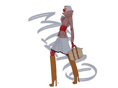 Fashion in Corona time 3 designer covid 19 mask designs design art fashion design boot bag design stylish style fashion trendy design trend covid design corona corona virus 2020 illustration illustrator