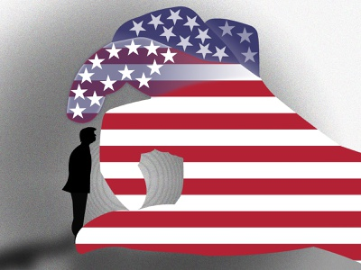 Goodbye Trump! presidential election president gop republican biden democrat usa flag usa hand flag vote election day election 2020 election donald trump donald trump 2020 illustration illustrator